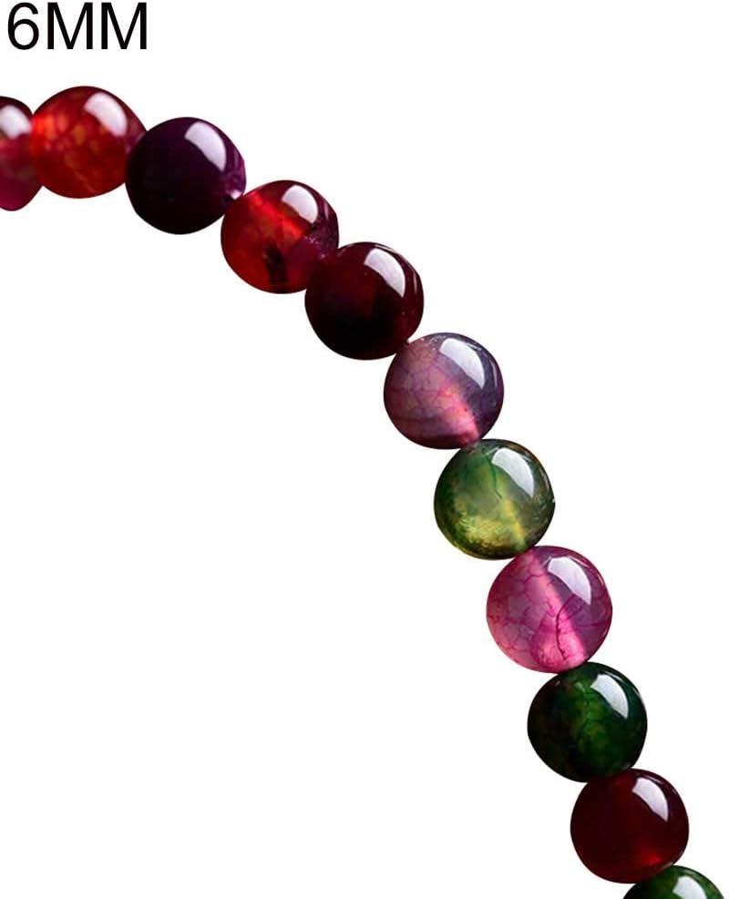 Homeofying 6//8//10mm Faux Agate Tourmaline L/âche Ronde Perles Strand Bracelet Fabrication De Bijoux Bracelet pour Les Femmes 10mm
