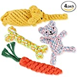 Animal Dog rope toys -Puppy Chew Dog Toys Set of 4-Animal Design Cotton Rope Toys for Medium to Small Pet Teething- Dog toys for Large Aggressive Chewers-2