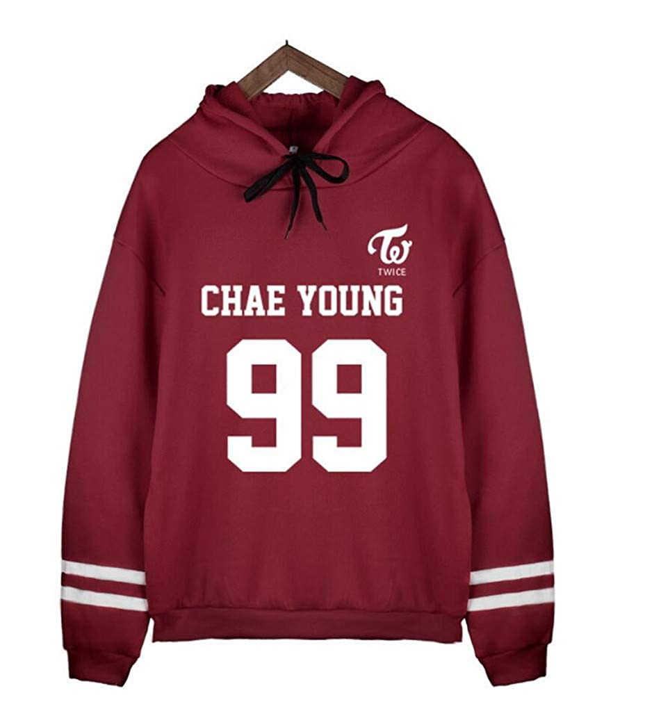 Youngate Kpop Twice Fleece Hoodies Printed Sport Sweatshirts Pullover
