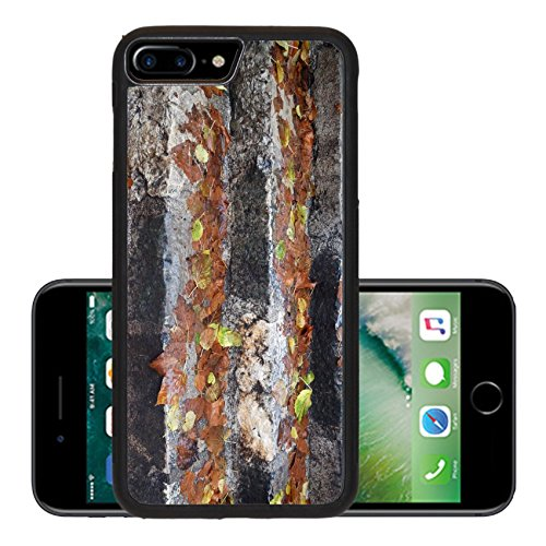 Luxlady Premium Apple iPhone 7 Plus Aluminum Backplate Bumper Snap Case IMAGE ID 21073438 Fall leaves on the wet steps - Wet Location Step