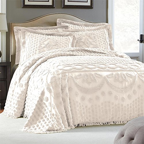 Brylanehome Georgia Cotton Throw Bedspread (Ivory,King)