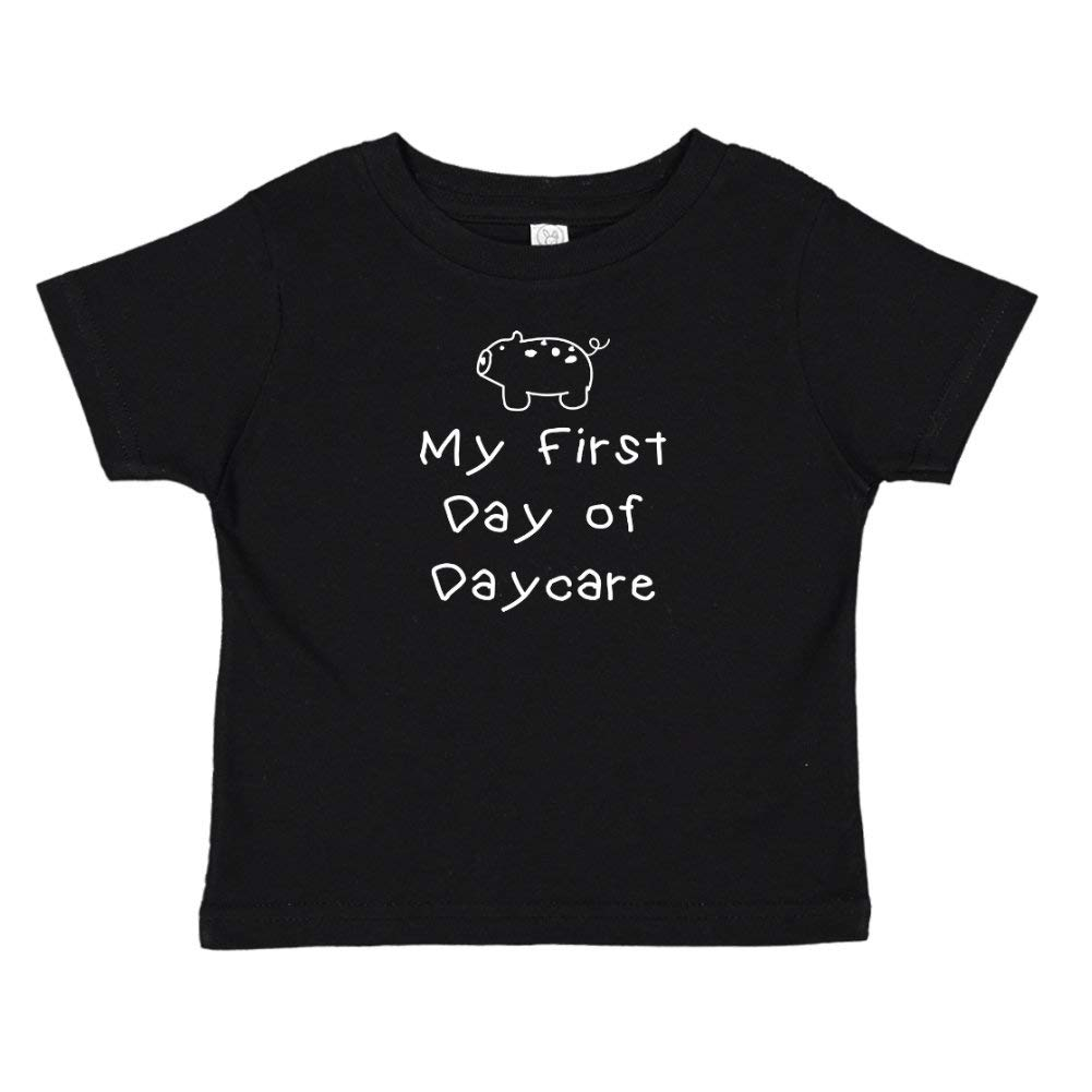 Baby Pig My First Day of Daycare Toddler//Kids Short Sleeve T-Shirt