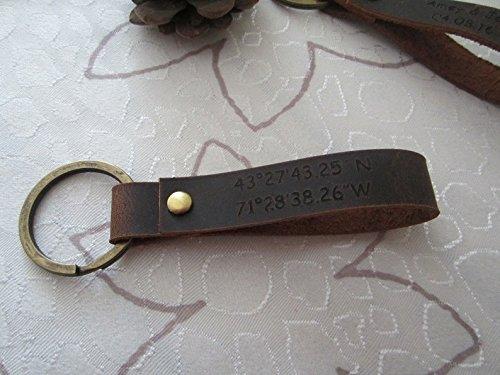 amazon com engraved leather keychain custom engraved key chain
