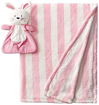 Baby-Girls recién nacido Manta 2 piezas con el conejito de peluche de juguete