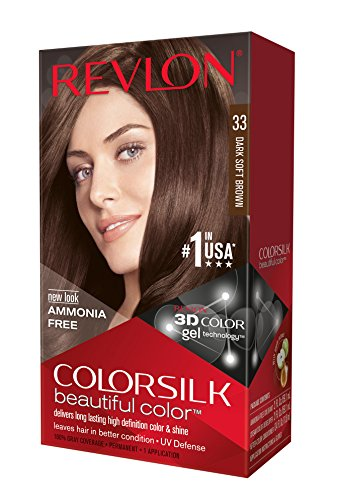 Revlon Colorsilk Haircolor, Dark Soft Brown, 4.4 Ounces (Pack of 3)