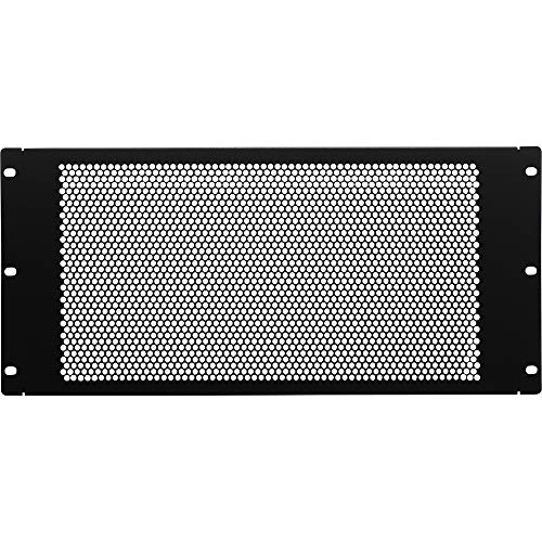 NavePoint 5U Blank Rack Mount Panel Spacer with Venting for 19-Inch Server Network Rack Enclosure Or Cabinet Black