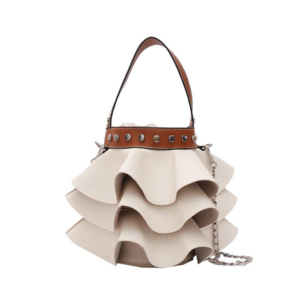 1cc0c0552f06 Rainie Love Unique Pleated Shape Design Bucket Bag Women's PU ...