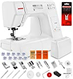 Janome HD3000 Heavy Duty Sewing Machine w/ Hard Case + Ultra Glide Foot + Blind Hem Foot + Overedge Foot + Rolled Hem Foot + Zipper Foot + Buttonhole Foot + Leather and Universal Needles + More!