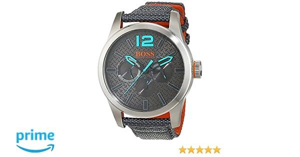 5ff7ae048b46 Hugo Boss Orange 1513379 - Reloj de pulsera analógico para hombre (correa de  nailon