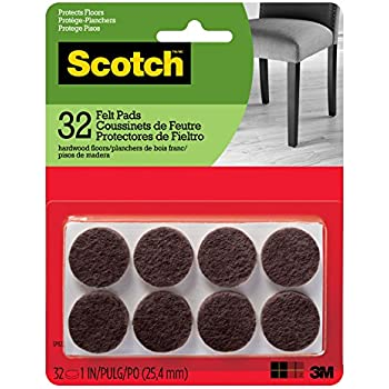 Scotch Brand Sp802 Na Scotch Felt Pads Round 1 In