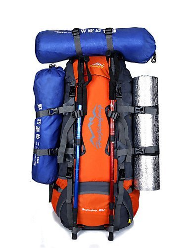 XH@G 70 L Rucksack Camping & Wandern Outdoor Wasserdicht / Regendicht / Staubdicht / Multifunktions Grün / Rot / Blau / Dunkelblau / Orange