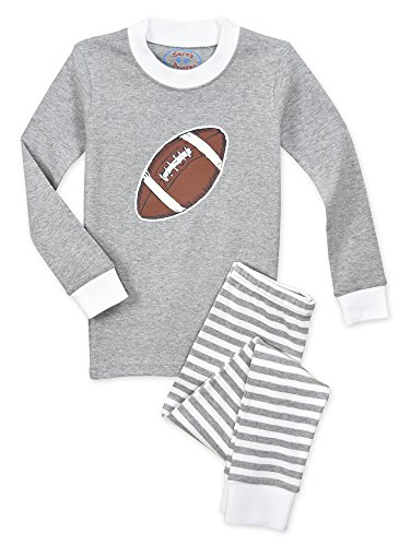 - Sara's Prints Baby Boys Unisex Kids All Cotton Long John Pajamas, Glowing Football - Shgo 18M