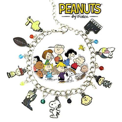 Snoopy & Friends Peanuts Theme Silvertone Charm Bracelet