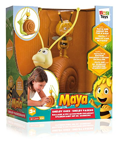 Maya Shelby Goes Push-Along Snail Toy - Includes Maya the Bee Articulated Character Figure