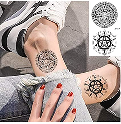 ruofengpuzi Adesivo tatuaggioTotem Negro Pegatinas De Tatuaje ...