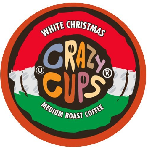 Crazy Cups Flavored Hot or Iced Coffee, for the Keurig K Cups 2.0 Brewers, Seasonal White Christmas, 22 Count