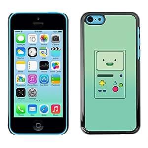 FlareStar Colour Printing Handheld Game Console Green Retro cáscara Funda Case Caso de plástico para Apple iPhone 5C