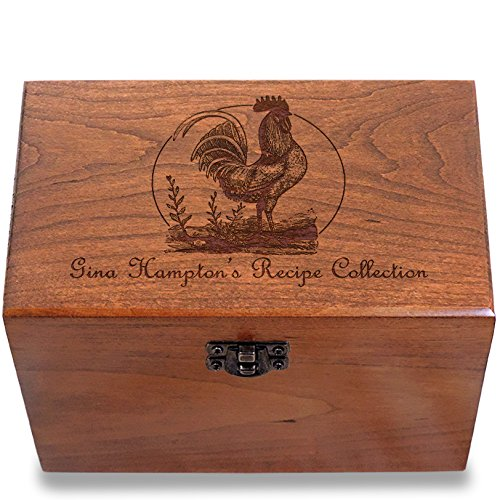 Cookbook People Cherry Recipe Box 4x6 Made in the USA (Rooster) (Recipe Rooster Box)