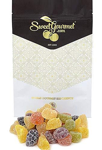 SweetGourmet English Fruit Pastilles | No Artificial Colors & Flavors | 1 Pound