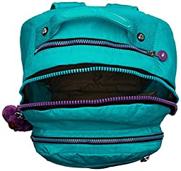 Kipling Seoul Backpack, Cool Turquoise Contrast Zip, One Size