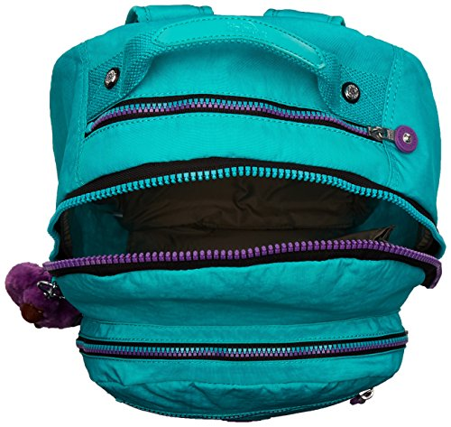 Kipling Seoul Backpack, Cool Turquoise Contrast Zip, One Size by Kipling (Image #4)