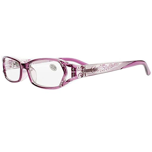 edd1379be6b9 Stylish Designed Womens Purple Red Rhinestone Reading Glasses New (purple