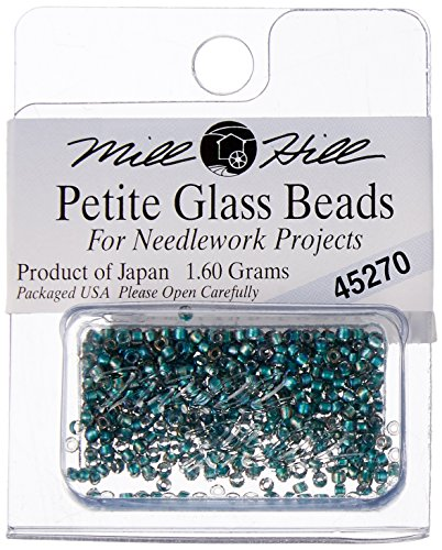 Mill Hill Petite Glass Seed Beads, Bottle Green (Petite Glass Beads)