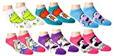 Disney Womens Mickey Mouse and Friends Ankle-No Show Socks 6 Pair Pack (One Size, Muppet Multi-color)