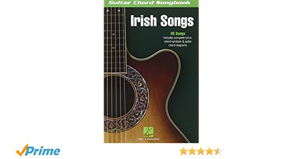 Amazon.com: Irish Songs (Guitar Chord Songbooks) (9781423468042 ...