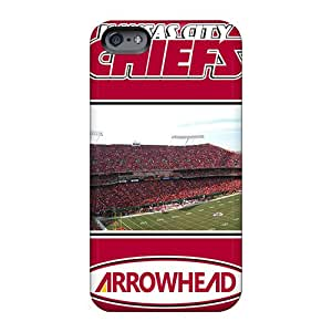 Protective Hard Phone Cover For Apple Iphone 6 Plus With Unique Design High-definition Kansas City Chiefs Series RandileeStewart