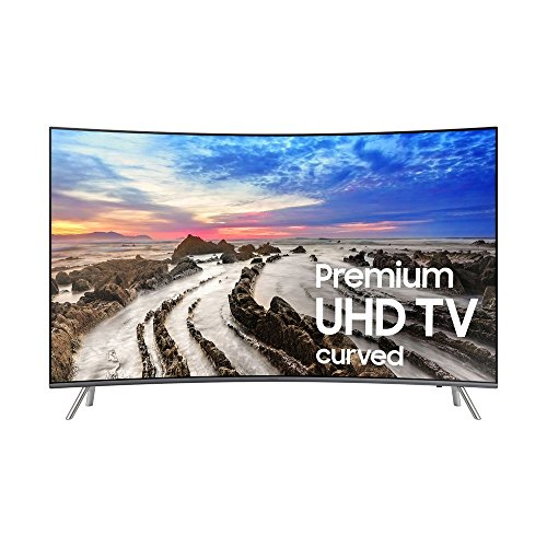 "Samsung UN55MU8500 55"" curved Smart LED 4K Ultra HD TV with"