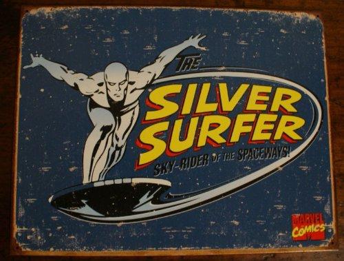 The Silver Surfer Retro Tin Sign , 16x12 , 16x12