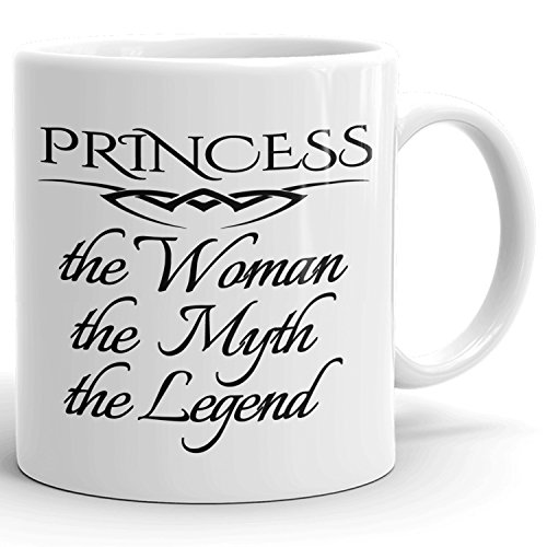 Best Personalized Womens Gift! The Woman the Myth the Legend - Coffee Mug Cup for Mom Girlfriend Wife Grandma Sister in the Morning or the Office - P Set 1