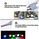 "FICBOX 5pcs LED Metal Indicator Light 6mm 1/4"" 12V"