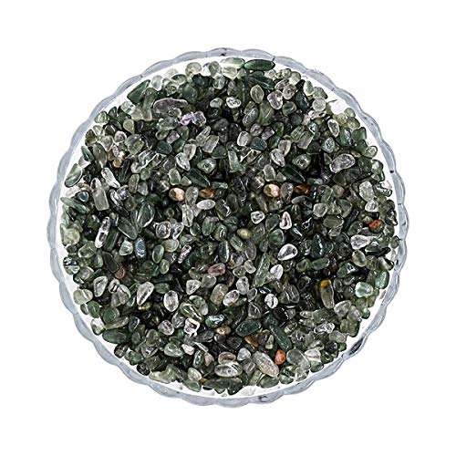 LiangGui Decorative Stones for Fish Tank Tumbled Chips Stone Natural Green Crystal by LiangGui (Image #3)