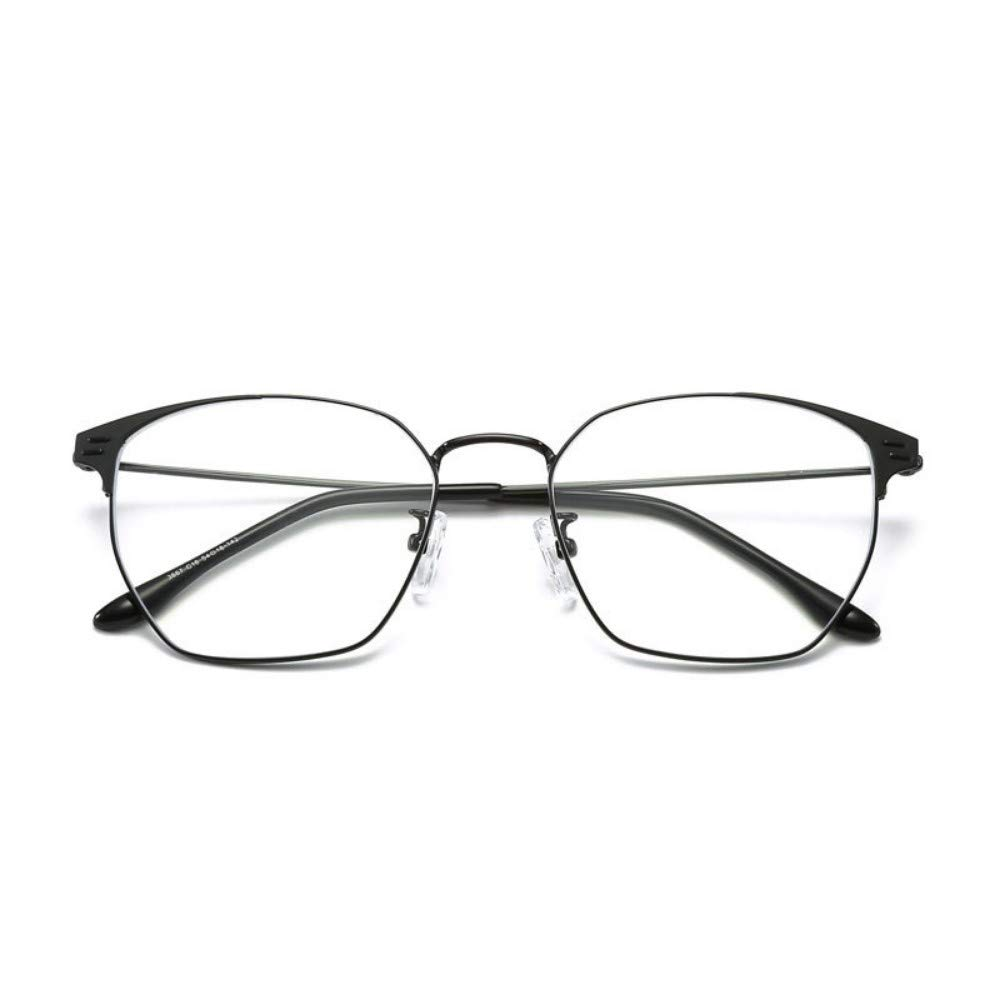 Blu-Ray Glasses Retro Eye Protection Personality Flat Mirror No Degree Black