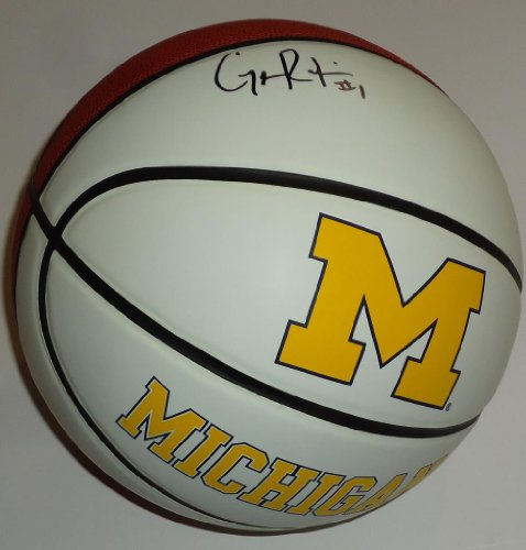 GLENN-ROBINSON-III-signed-MICHIGAN-WOLVERINES-logo-FS-basketball-WCOA-Autographed-Basketballs