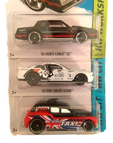 Hot Wheels (Bundle of 3) 86 MONTECARLO SS, Dodge Viper SRT10 ACR, & COCKNEY CAB II