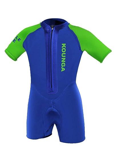 kounga de 1.5 traje de neopreno corto para niño
