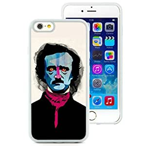 Great Quality iPhone 6 4.7 Inch TPU Case ,Beautiful And Unique Designed Case With Edgar Allan Poe White iPhone 6 Cover Phone Case