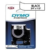 DYMO D1 Flexible Nylon Label Maker Tape, 3/4in x 12ft, Black on White by DYMO