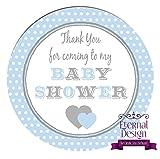 Eternal Design 48 x 30mm Baby Shower White Stickers BSCS 2