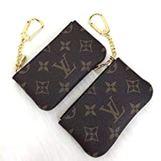 33654e85e Louis Vuitton Original Brown Monogram Leather Keychain BagCharm HandMade by.