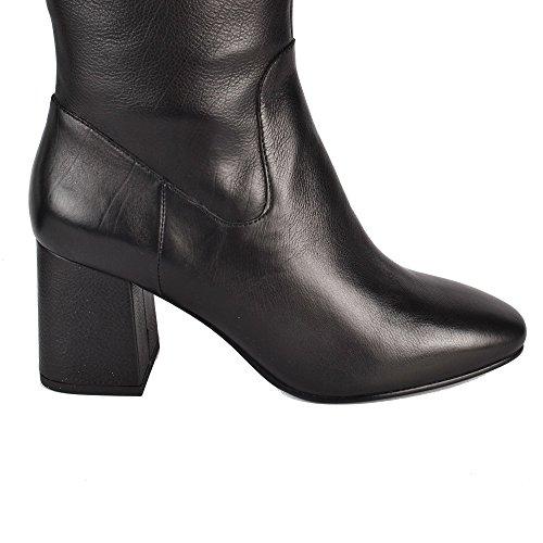Con In Nero Tacco Footwear Donna Black Hashley Pelle Ash Stivali Xg1xwv
