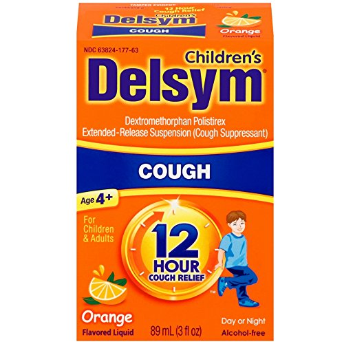 Delsym Childrens Cough Suppressant (Delsym Children's Cough Suppressant Liquid, Orange Flavor, 3 Ounce)