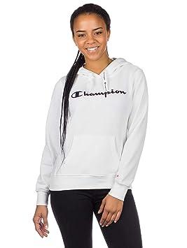 Champion - Sudadera con Capucha para Mujer (Talla S), Color Blanco: Amazon.es: Deportes y aire libre