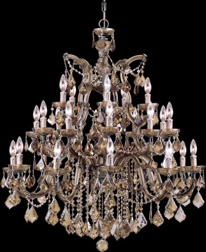 Crystorama 4470-AB-GT-MWP Crystal Ten Light Chandelier from Maria Theresa collection in - Ab Gt Crystal Mwp