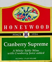 NV Honeywood Winery Cranberry Supreme Fruit Wine 750 mL