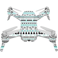 Skin For Yuneec Breeze 4K Drone – Turquoise Tribal | MightySkins Protective, Durable, and Unique Vinyl Decal wrap cover | Easy To Apply, Remove, and Change Styles | Made in the USA