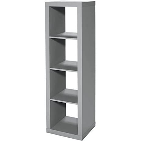 4 Cube Gray Organizer Creates Multiple Storage Solutions Horizontal Or  Vertical Display, Dimensions 15.63